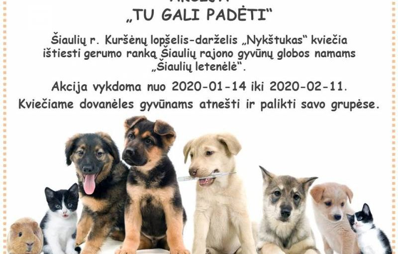 """AKCIJA """"TU GALI PADĖTI"""""""
