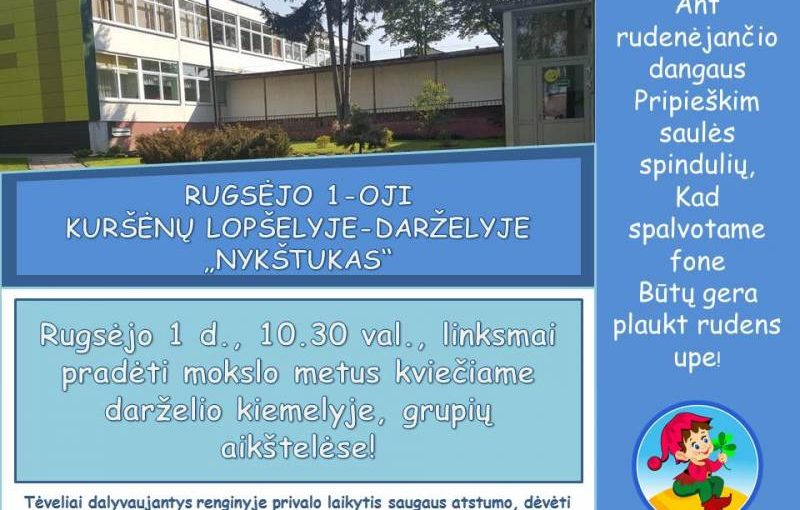 RUGSĖJO 1-OJI